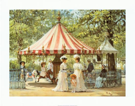Summer Carousel-Alan Maley-Art Print