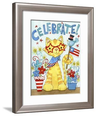 Summer Celebration Cat-Jennifer Nilsson-Framed Giclee Print