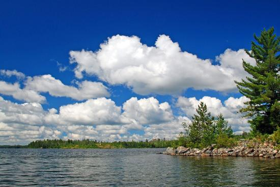 Summer Clouds on Knife Lake-wildnerdpix-Photographic Print