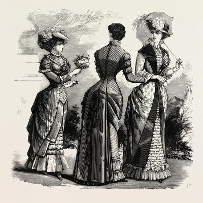 Summer Costumes, 1882, Fashion--Giclee Print