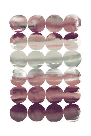 Summer Dots Plum-Elyse DeNeige-Art Print