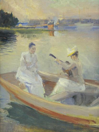 Summer Evening, Borga Harbour, 1889-Albert Edelfelt-Giclee Print
