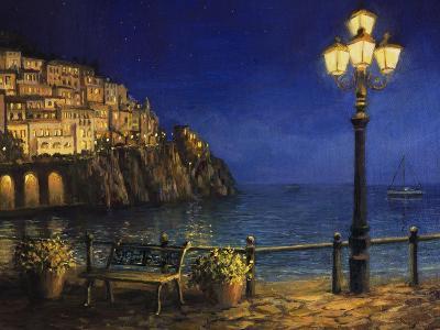 Summer Evening In Amalfi-kirilstanchev-Art Print