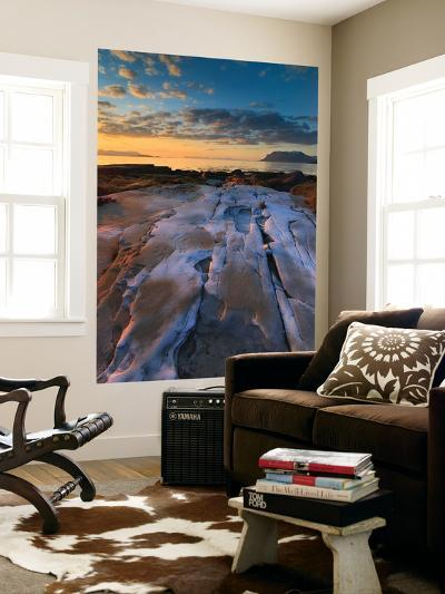 Summer Evening Looking Out over Vågsfjorden, Troms County, Norway-Stocktrek Images-Wall Mural