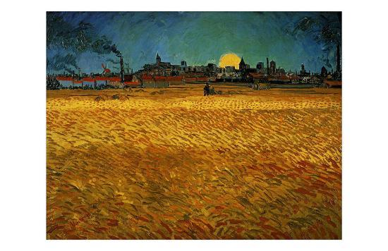 Summer Evening Near Arles-Vincent van Gogh-Giclee Print
