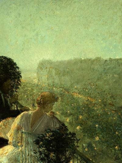 Summer Evening, Paris-Childe Hassam-Giclee Print