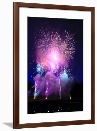 Summer evening spectacular fireworks show-Stuart Westmorland-Framed Photographic Print