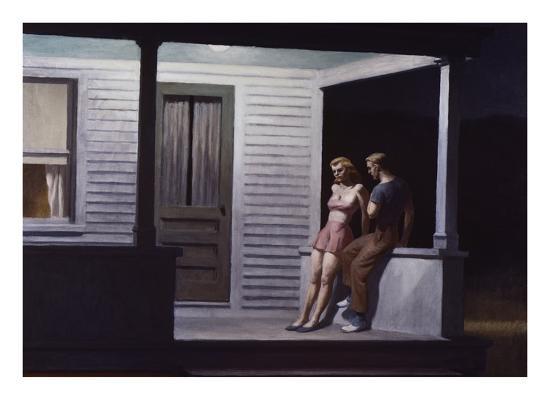 Summer Evening-Edward Hopper-Giclee Print