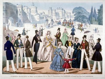Summer Fashions for 1841, C1841--Giclee Print