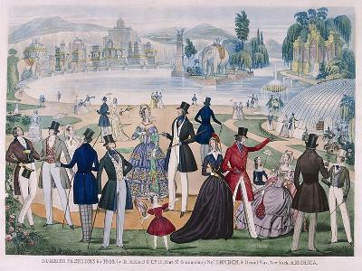 Summer Fashions for 1844--Giclee Print