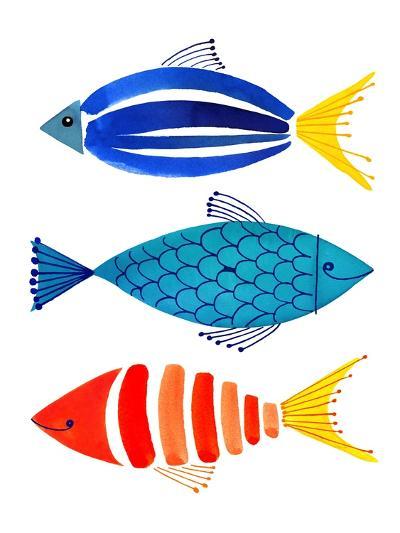 Summer Fish Trio-Margaret Berg-Art Print