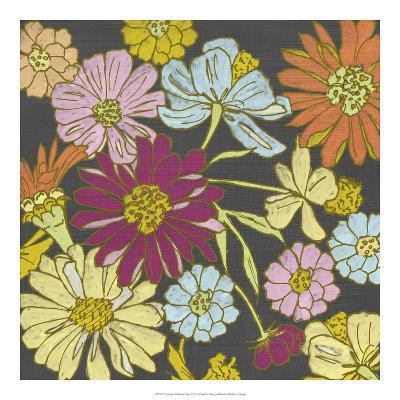 Summer Floral on Grey I-Chariklia Zarris-Art Print
