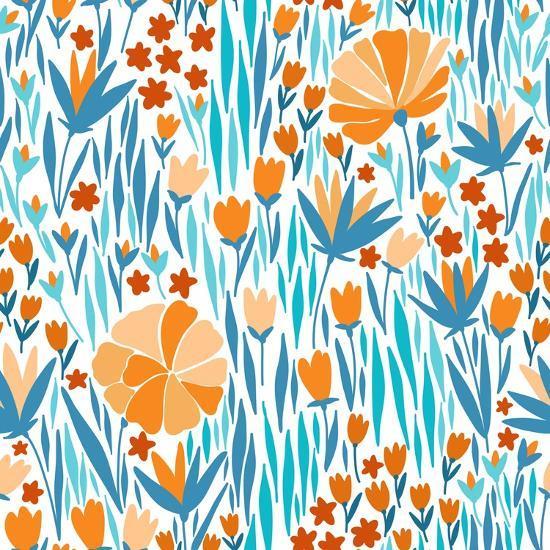 Summer Flower Pattern-Maria_Galybina-Art Print