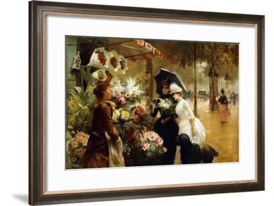 Summer Flowers, 1888-Louis de Schryver-Framed Giclee Print