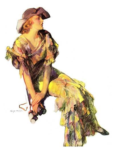 """Summer Frock,""August 3, 1935-Guy Hoff-Giclee Print"