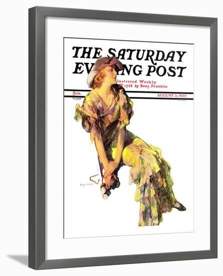"""Summer Frock,"" Saturday Evening Post Cover, August 3, 1935-Guy Hoff-Framed Giclee Print"