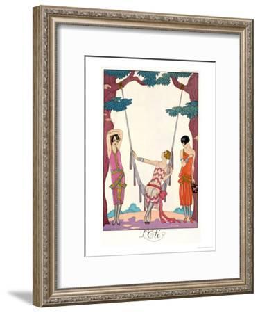 "Summer, from ""Gazette Du Bon Ton,"" 1925-Georges Barbier-Framed Giclee Print"
