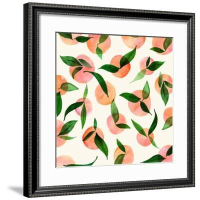 Summer Fruit Pattern-Modern Tropical-Framed Art Print