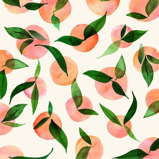 Summer Fruit Pattern-Modern Tropical-Art Print