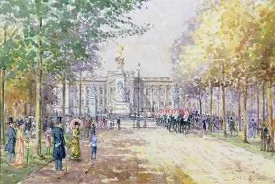 Summer in the Mall, C.1910-John Sutton-Giclee Print