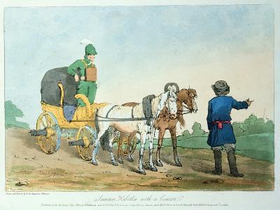 Summer Kibitka with a Courier, 1803-John Augustus Atkinson-Giclee Print
