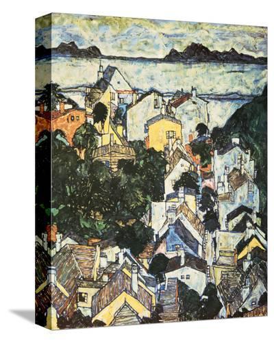 Summer Landscape, 1917-Egon Schiele-Stretched Canvas Print