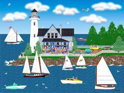 Summer Lighthouse-Mark Frost-Giclee Print