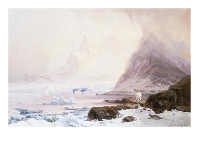 Summer Night at Smeerenberg, Norway-Franz Wilhelm Schiertz-Giclee Print