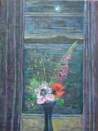 Summer Night (Bouquet in Window), 2013-Ruth Addinall-Giclee Print