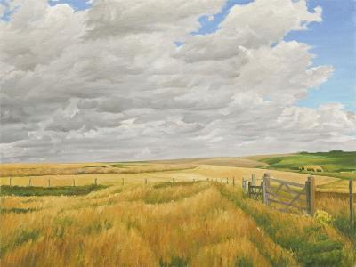 Summer on Cotley Hill, 2010-Peter Breeden-Giclee Print