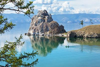 Summer on Lake Baikal. Shamanka Rock-katvic-Photographic Print