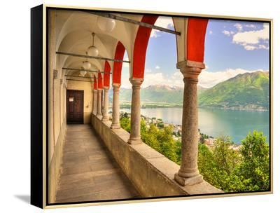 Summer on Lake Maggiore--Framed Canvas Print