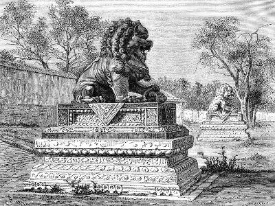 Summer Palace, Bronze Lion, Emblem of the Imperial Power, C1890--Giclee Print