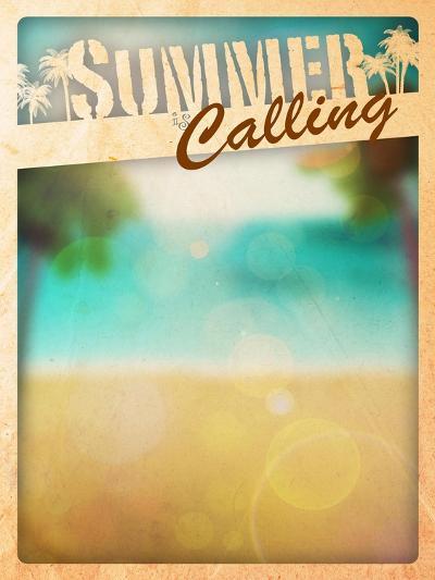 Summer Paradise Background-IstONE-Art Print