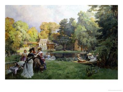 Summer Party at the Trianon-Emile-Charles Dameron-Giclee Print
