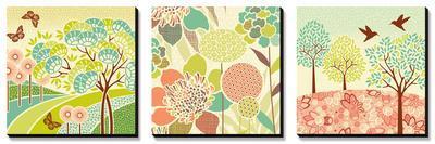Summer Patterns Triptych