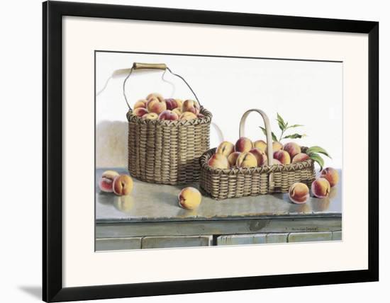 Summer Peaches-Pauline Eblé Campanelli-Framed Art Print