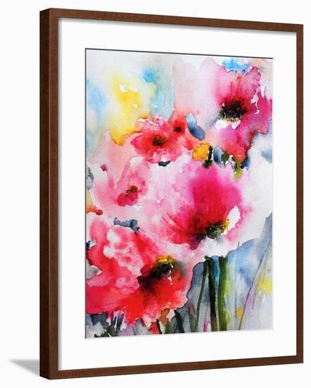 Summer Poppies II-Karin Johannesson-Framed Art Print