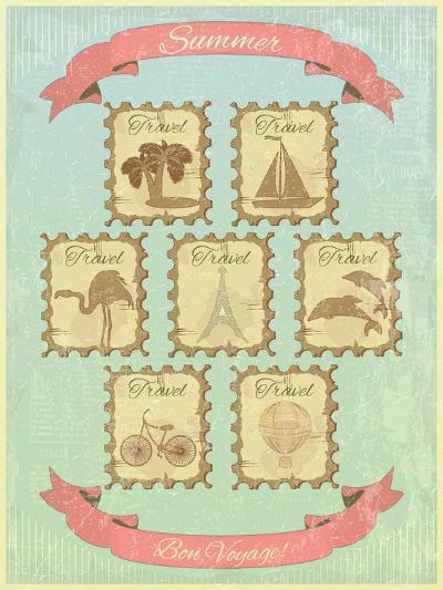 Summer Retro Card-elfivetrov-Art Print