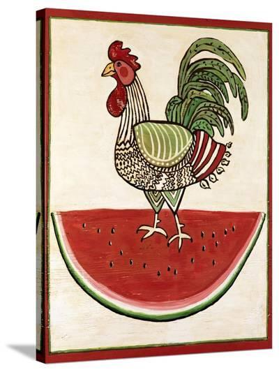 Summer Rooster-Suzanne Etienne-Stretched Canvas Print
