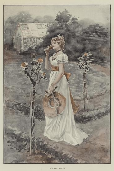 Summer Roses--Giclee Print