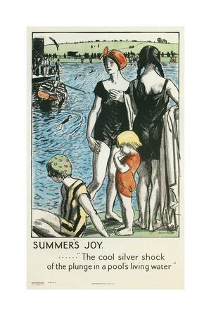 Summer's Joy, Swimming--Giclee Print