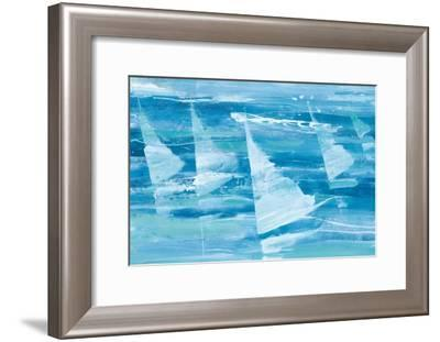Summer Sail III Blue-Albena Hristova-Framed Art Print