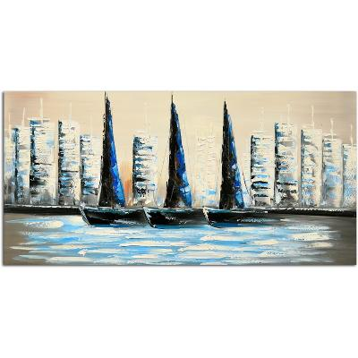 Summer Sailing--Hand Painted Art