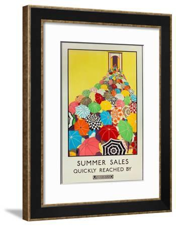 Summer Sales, Quickly Reached by Underground, 1925-Mary Koop-Framed Giclee Print