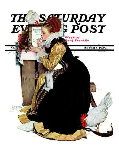 """Summer stock"" Saturday Evening Post Cover, August 5,1939-Norman Rockwell-Giclee Print"