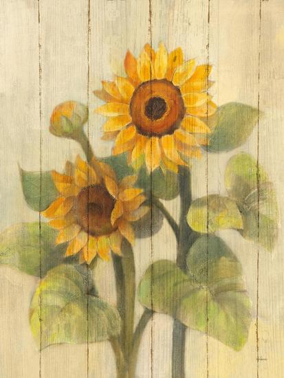 Summer Sunflowers II on Barnboard-Albena Hristova-Art Print