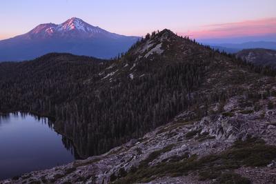 Summer Sunset, Castle Lake Overlook Mount Shasta Northern California-Vincent James-Photographic Print