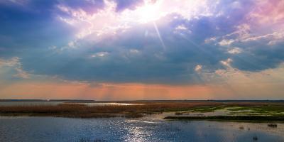 Summer Sunset over the Tranquil Lake-Liviu Pazargic-Photographic Print