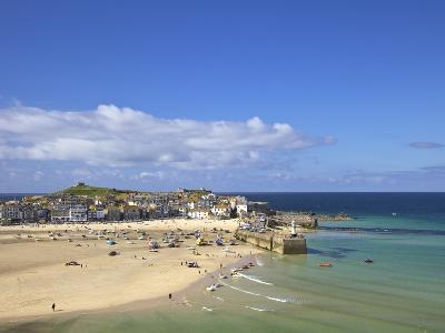 Summer Sunshine on the Old Harbour, St. Ives, Cornwall, England, United Kingdom, Europe-Peter Barritt-Photographic Print